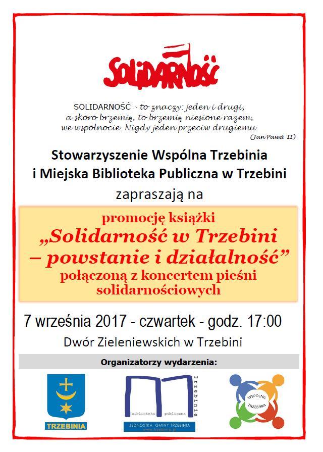 """Promocja książki """"Solidarność w Trzebini - powstanie i działalność"""""""