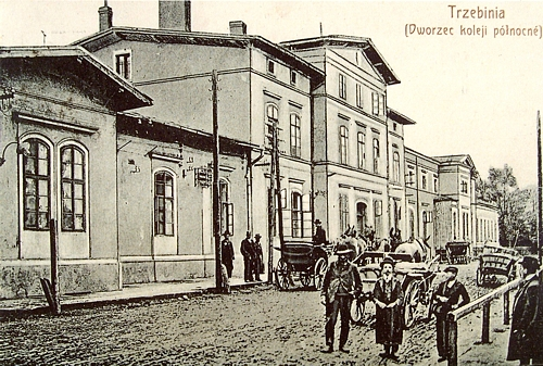 Dworzec kolejowy na początku XX wieku