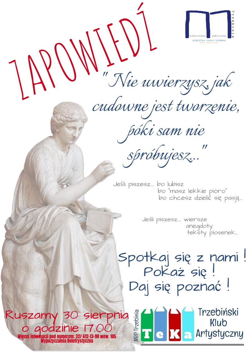 Zaproszenie na spotkanie literackie