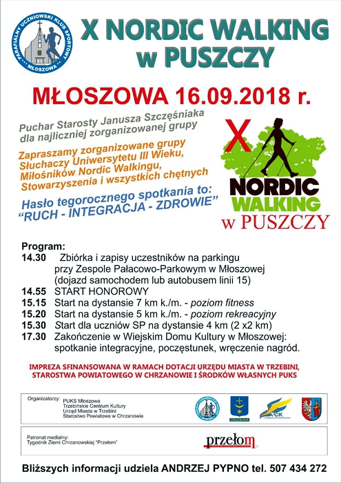 X NORDIC WALKING W PUSZCZY 16 września 2018
