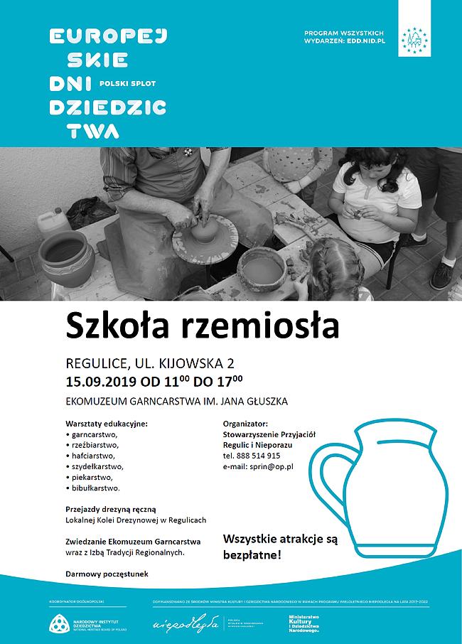 plakat zapowiadający wydarzenie szkoła rzemiosła 2019