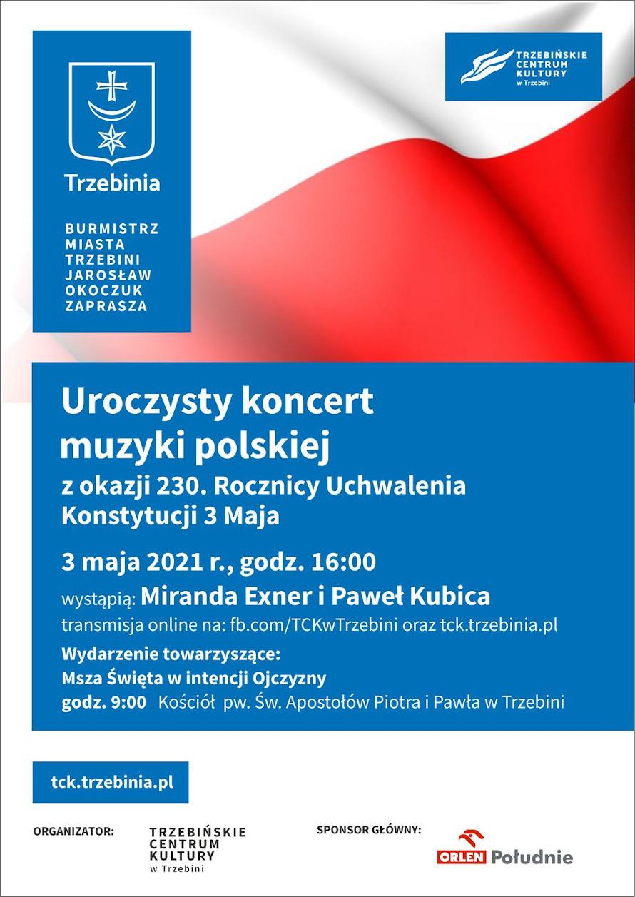 Koncert online w rocznicę uchwalenia Konstytucji 3 Maja
