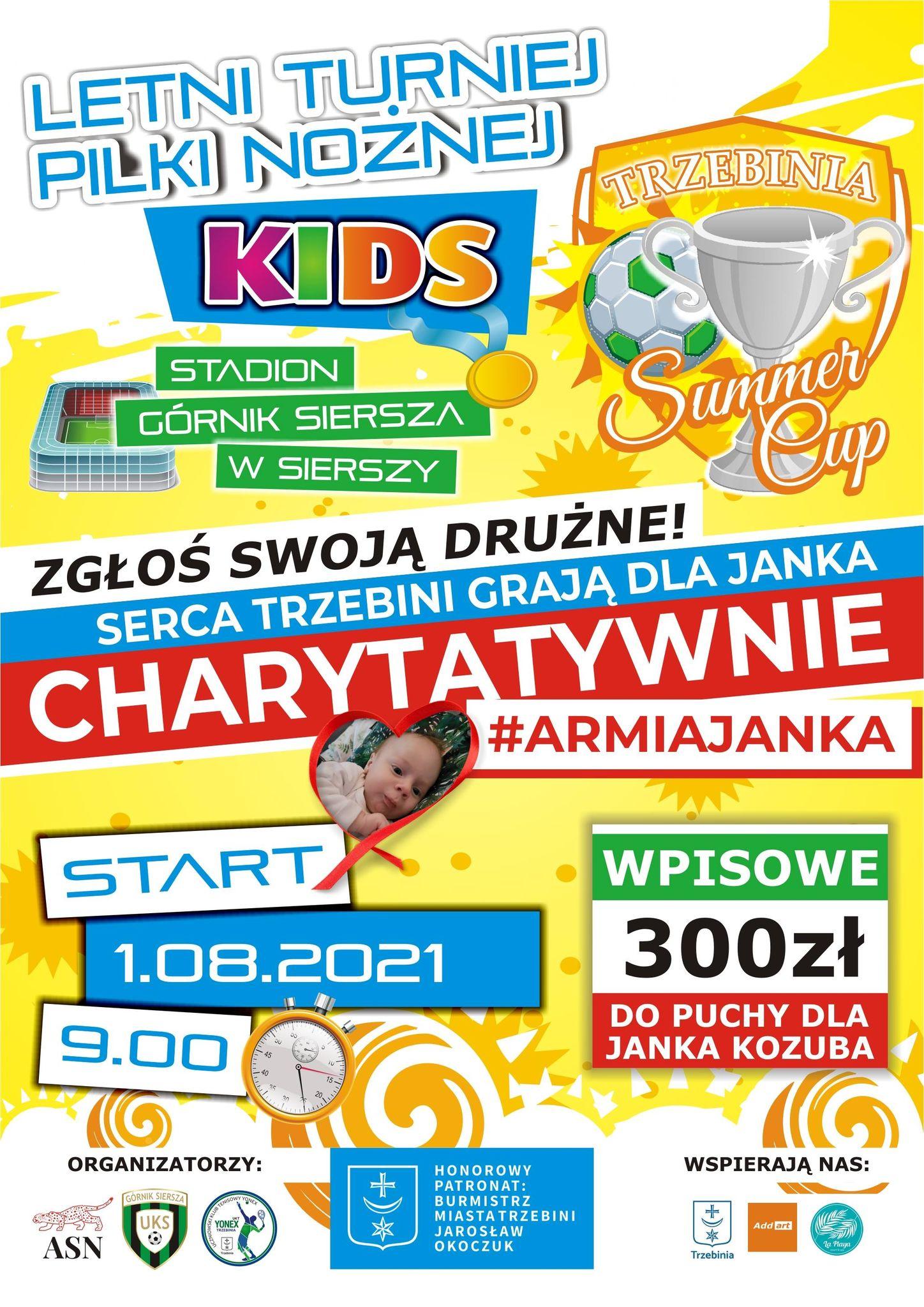 """Letni turniej piłki nożnej """"Summer Cup Kids -Trzebinia"""""""